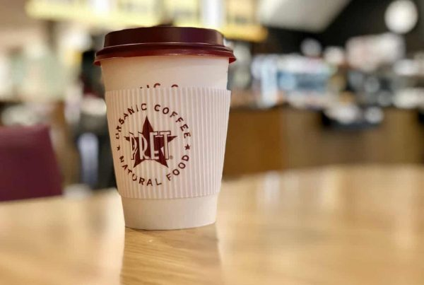 pret single use coffee cup recycling